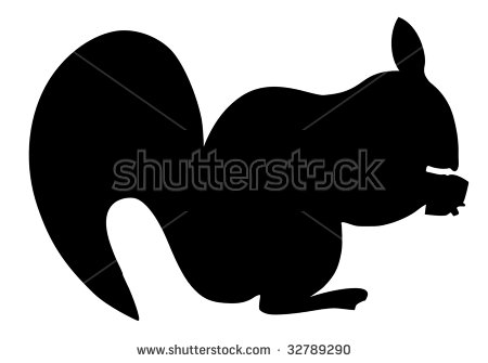 Squirrel Silhouette Stock Images, Royalty.