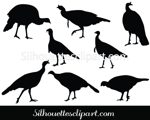 Wild Turkey Silhouette Vector Download.