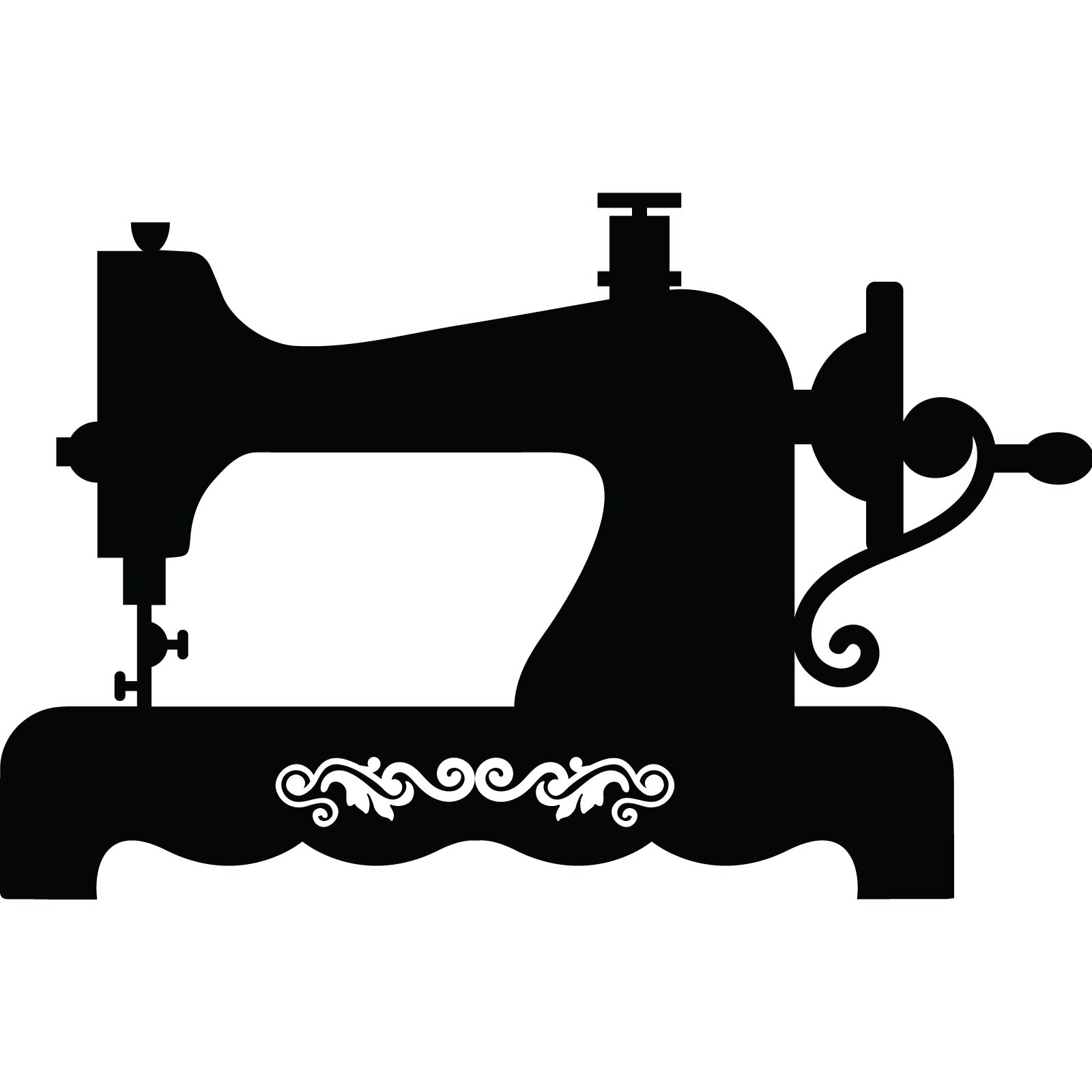 Clipart Silhouette Vintage Sewing Machine Clipground