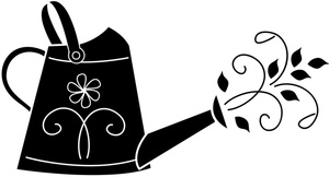 Watering Can Clipart Image.