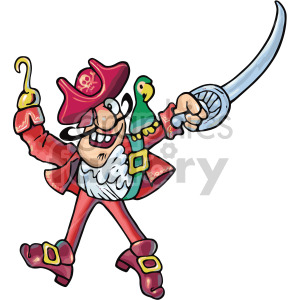 silly pirate clipart. Royalty.