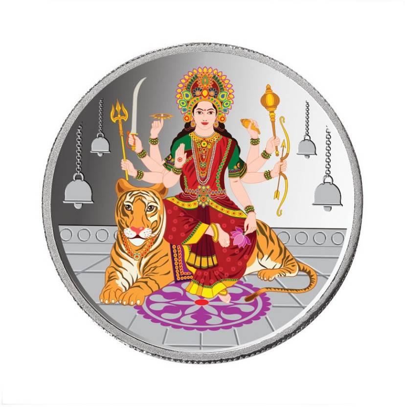 Taraash Taraash 999 Silver Colorful Godess Durga Mata 10.