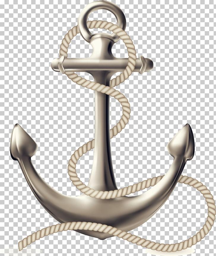 Anchor Ship Logo , anchor, silver anchor illustration PNG.