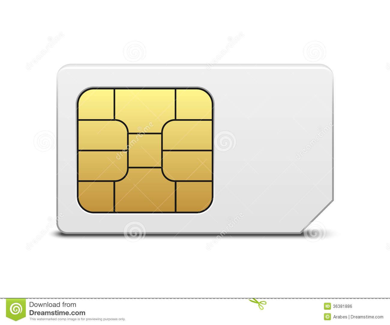 Sim Card Royalty Free Stock Image.