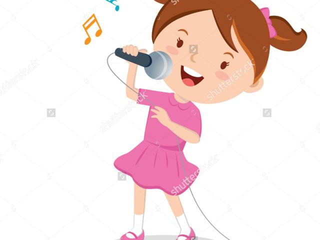 Sing clipart outgoing person.