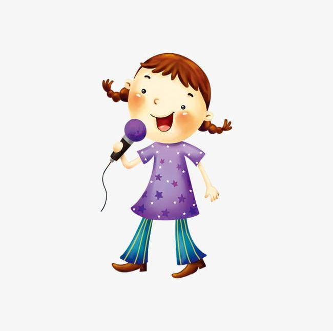 Singing Girl PNG, Clipart, Girl, Girl Clipart, Material, Music.