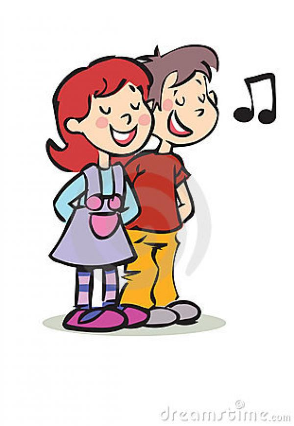Boy and girl singing clipart, Free Download Clipart and Images.
