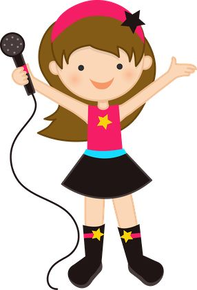 Girl Singing Clipart Png #66655.