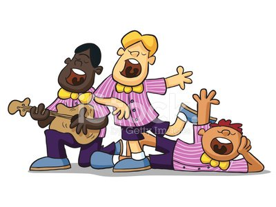 Singing Group premium clipart.