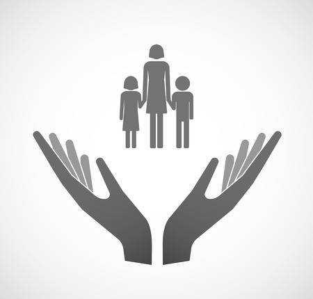Single Parent Family Clipart Black And White.