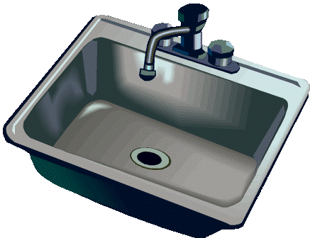 Sink kitchen faucet clipart clipartfest.