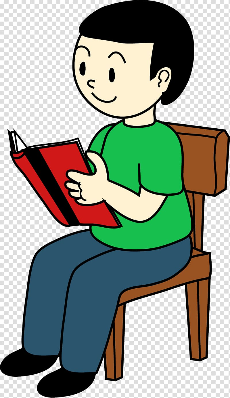 Student Sitting , Sit Quietly transparent background PNG.