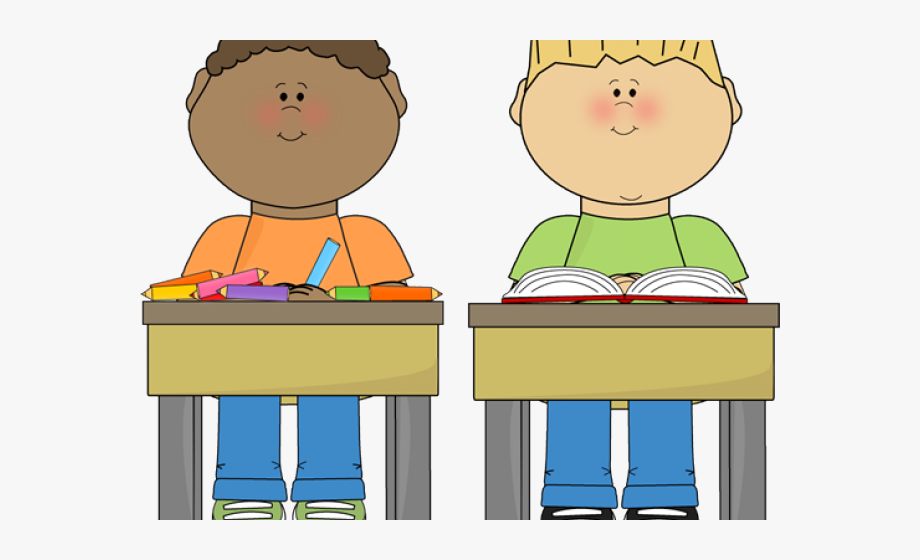 Sit At Desk Clipart, Cliparts & Cartoons.