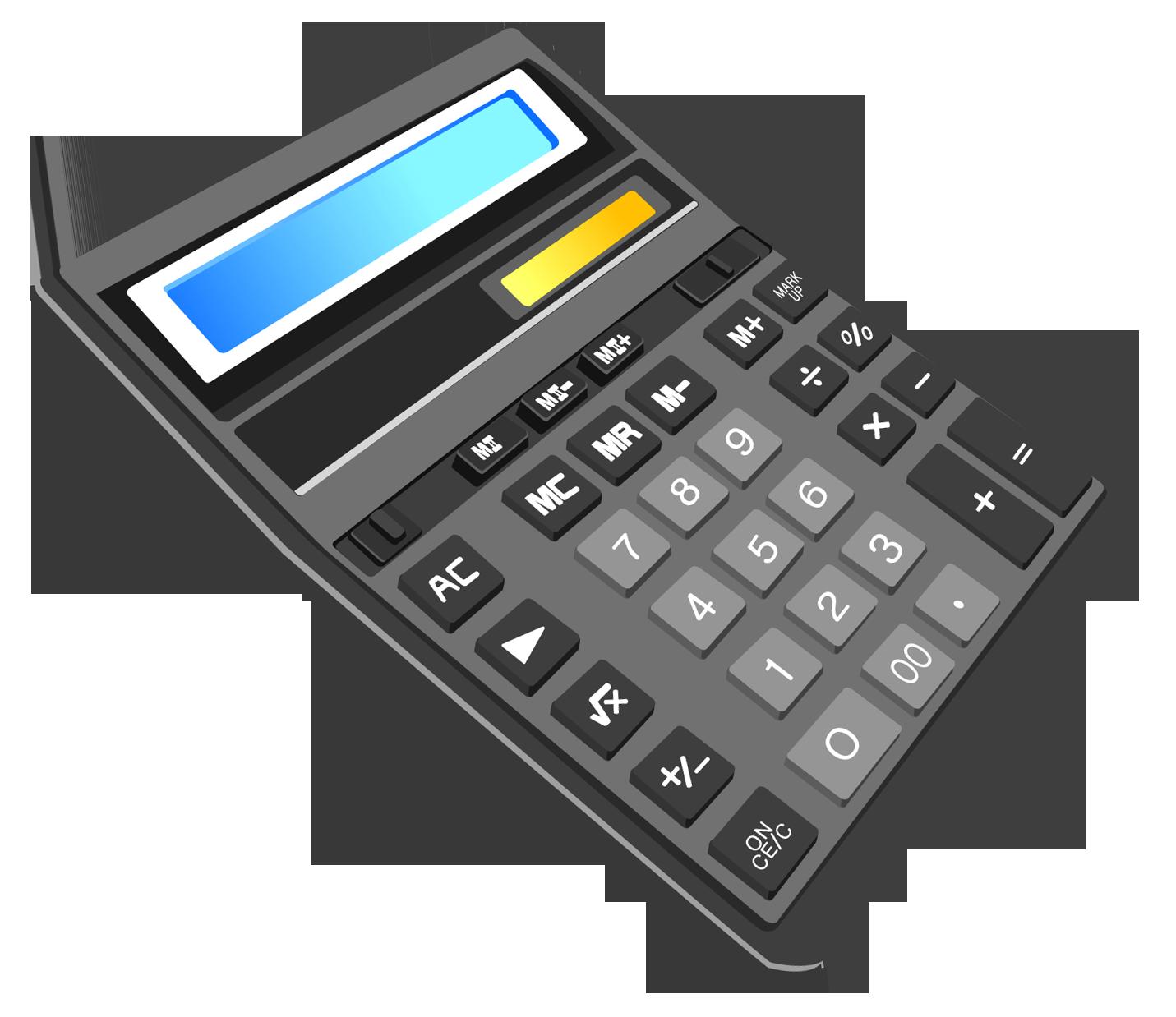 Calculator Transparent PNG Clipart.