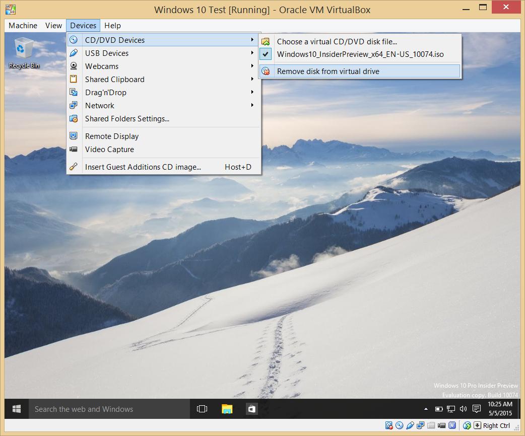 How to run Windows 10 on a virtual machine.