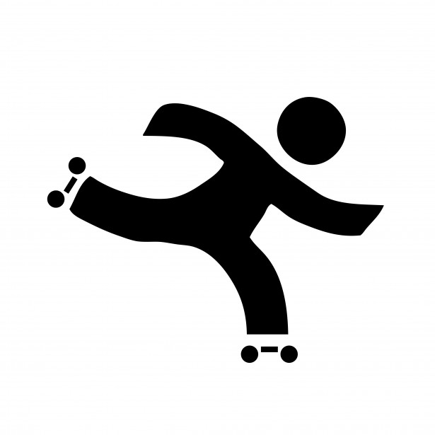 Roller Skating Clipart Free Stock Photo.