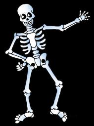 Download free skeleton public domain halloween images.