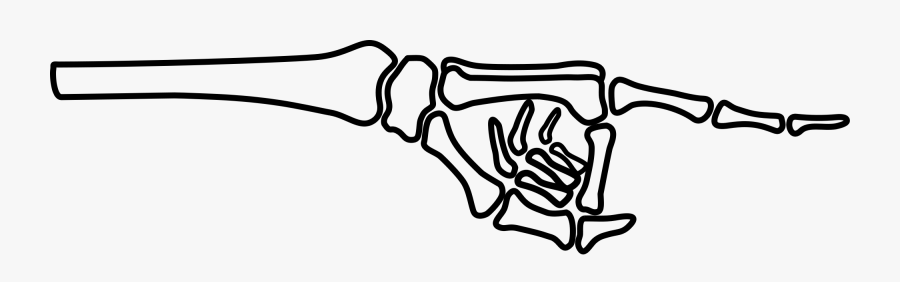 Skeleton Hand Pointing Clipart , Free Transparent Clipart.