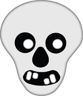 Skeleton head clipart 2 » Clipart Station.