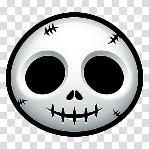 Halloween Avatars, skeleton head illustration transparent.