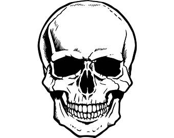 Skeleton Head Clipart.