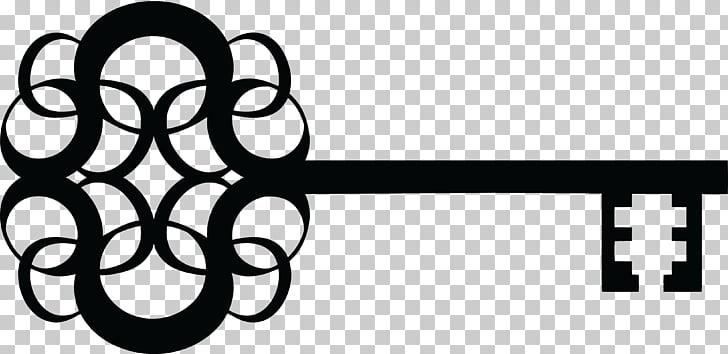 Skeleton key Silhouette , fancy PNG clipart.