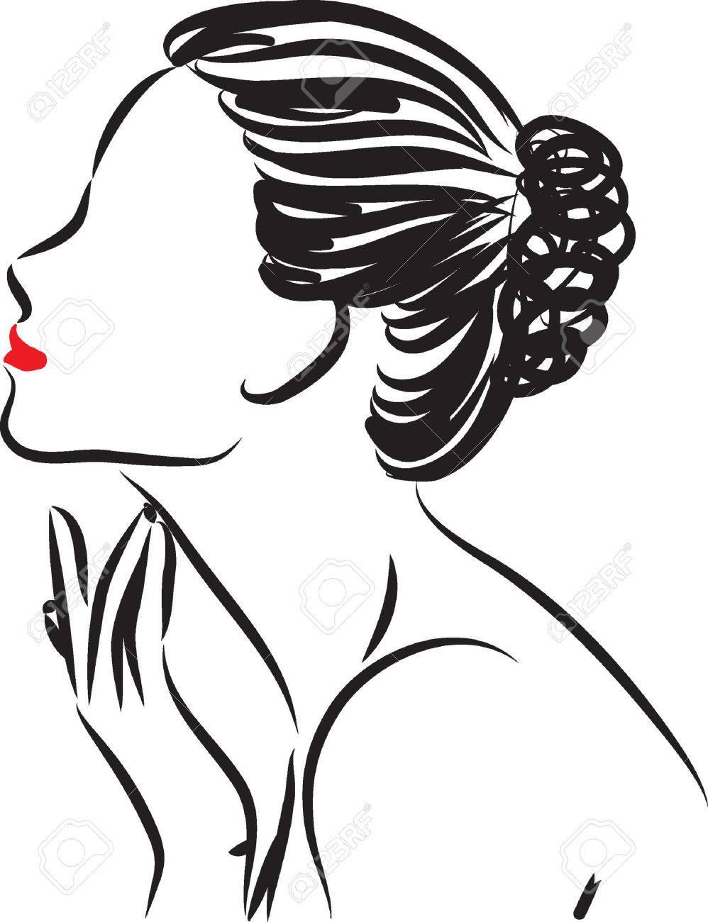 woman skin care illustration.