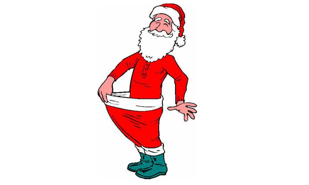 Skinny santa clipart.