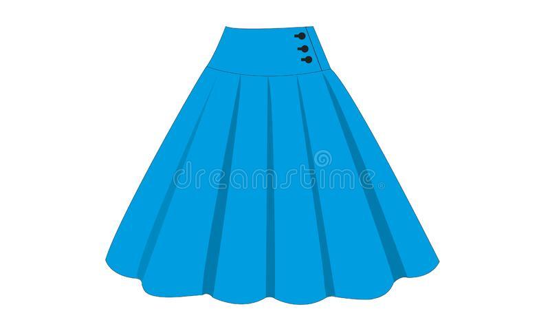 Blue Skirt Stock Illustrations.