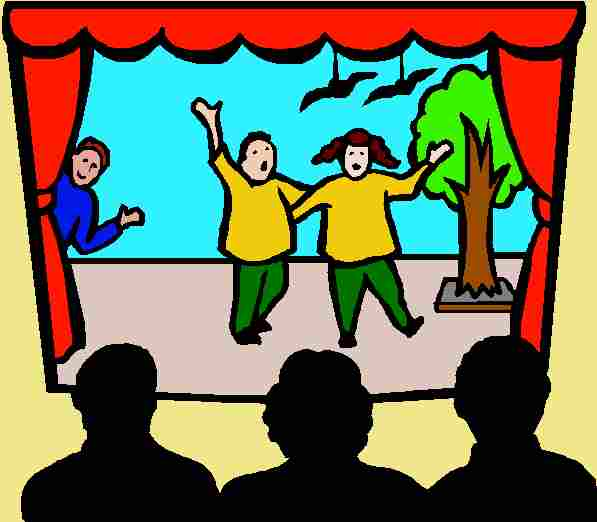Act In A Play Clipart.
