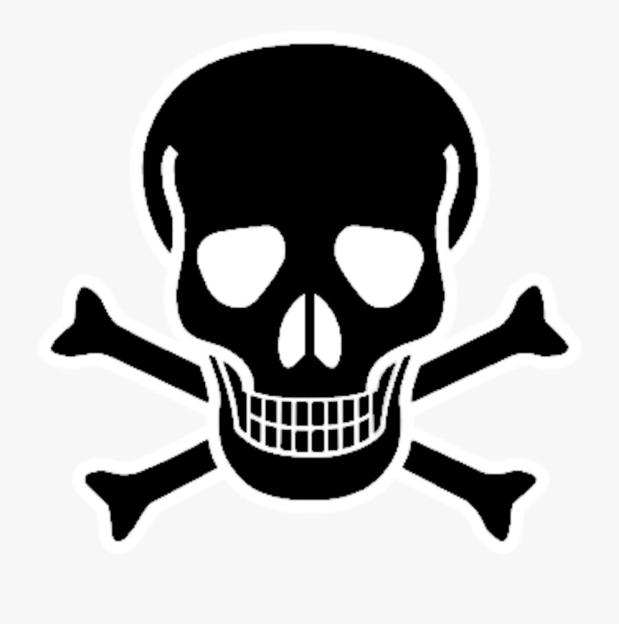 Red Skull Crossbones Bone Black And White Skull.
