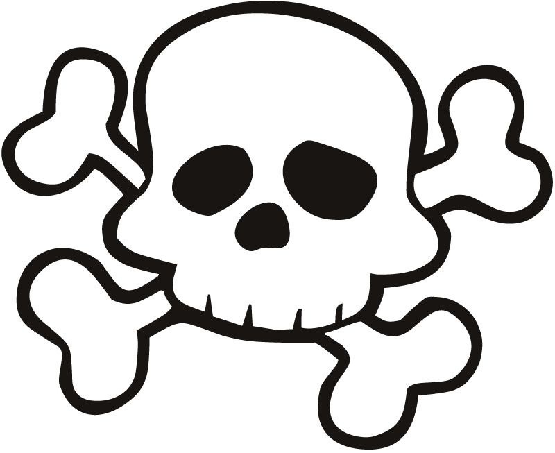 Free download Skull And Crossbones For Preschoolers Clipart.
