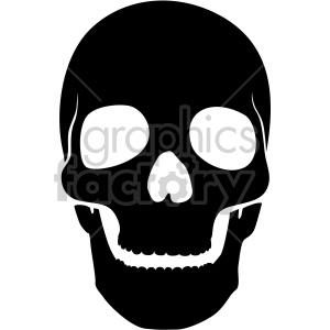 front facing skull clipart. Royalty.