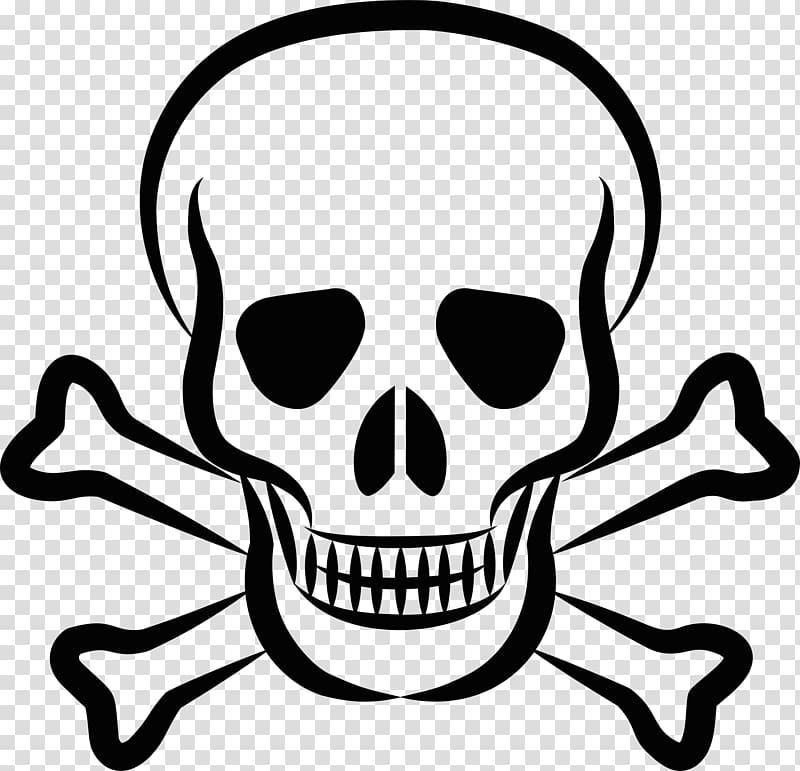 Skull and crossbones Skull and Bones , pirate transparent.