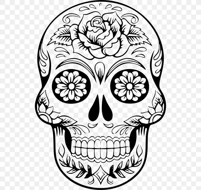 Calavera Skull Day Of The Dead Clip Art, PNG, 536x775px.