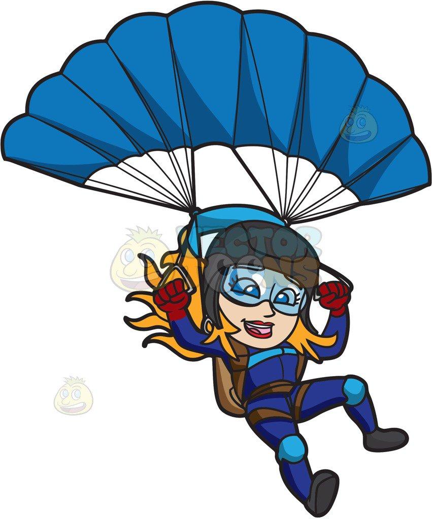792 Parachute free clipart.