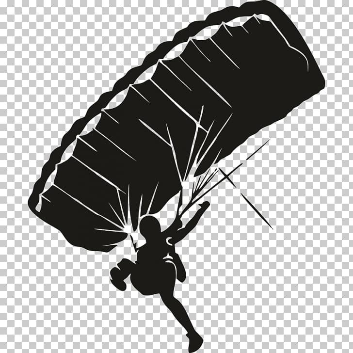 Parachute Sticker Parachuting skydiver Gleitschirm.