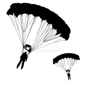 Skydiver Clipart Image.