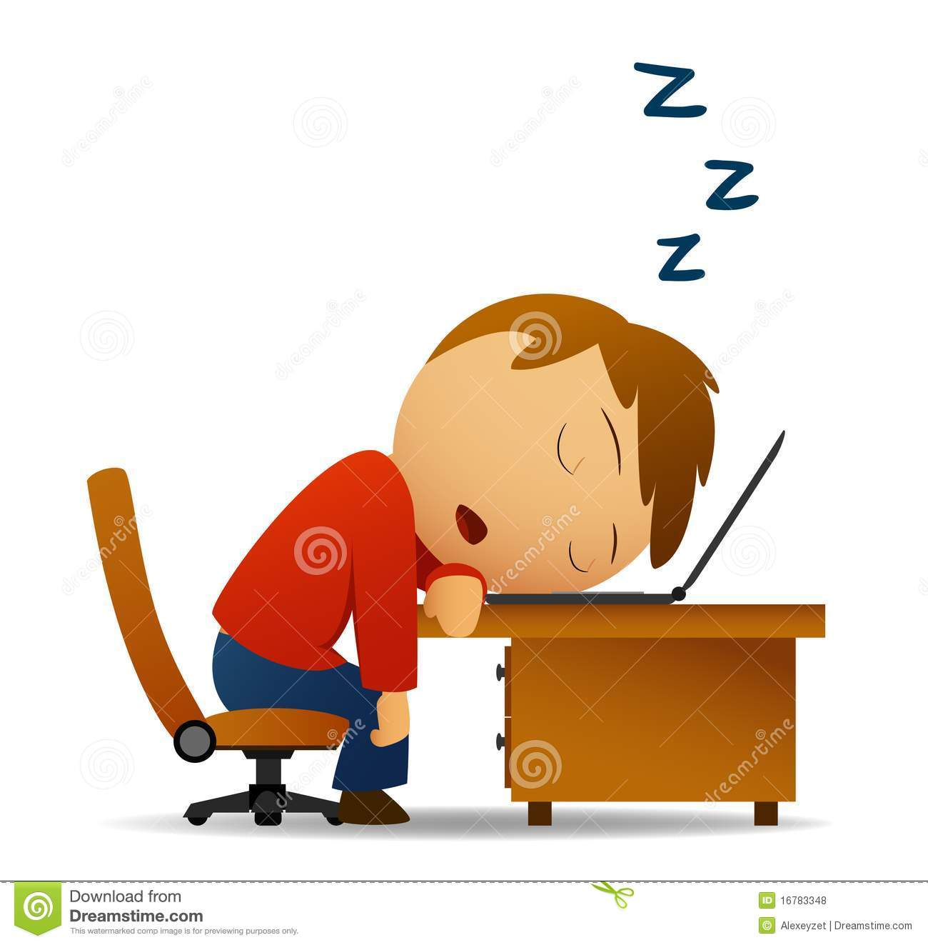 Clipart Sleeping At Desk Clipground