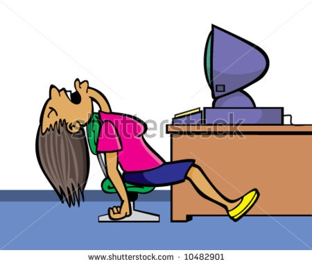 Sleeping At Your Desk Clipart.