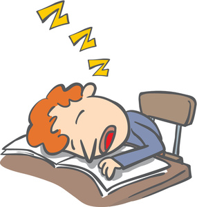 Sleeping School Desk Clipart.