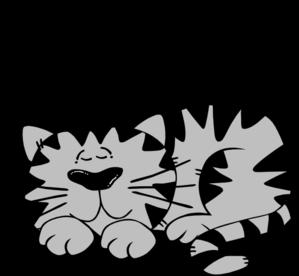 Sleeping Cat Clip Art at Clker.com.