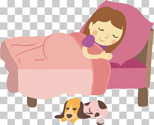 Sleep , Sheep on the tummy sleeping girl PNG clipart.