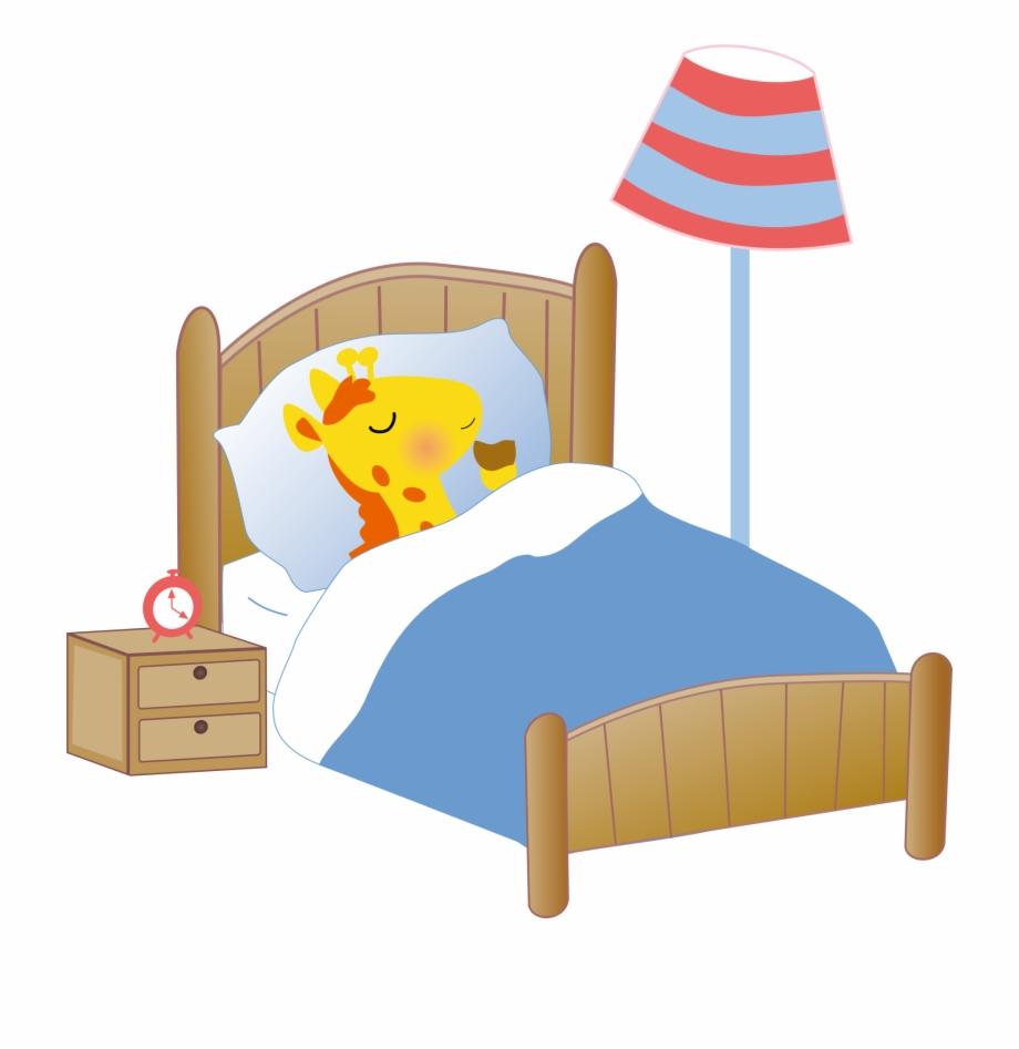 Bed Giraffe Cartoon Clip Art Giraffe Sleeping In.