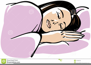Sleeping Person Animated Clipart.