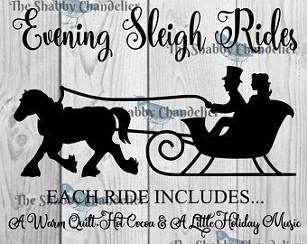 Sleigh ride stencils.