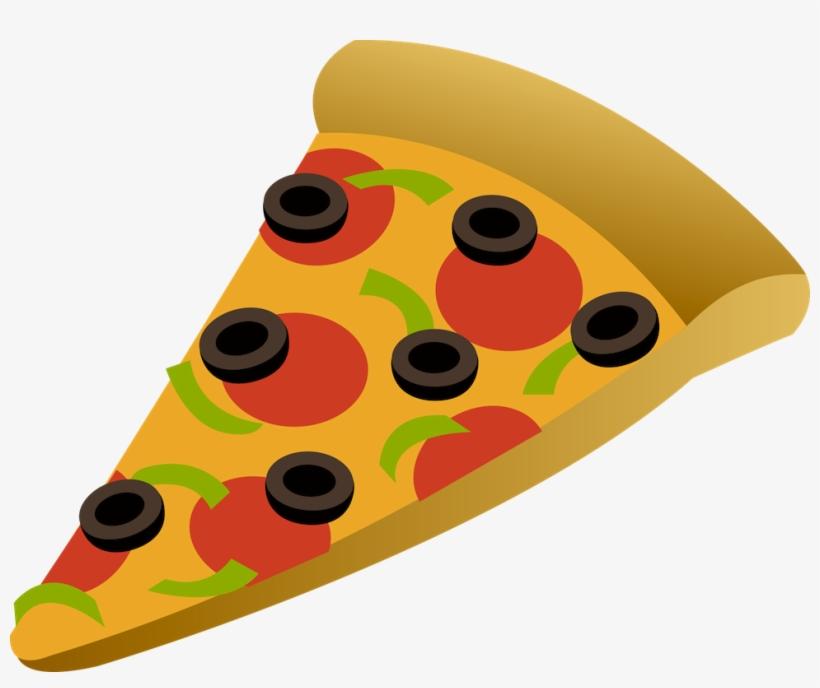 Cheese Pizza Slice Clip Art.