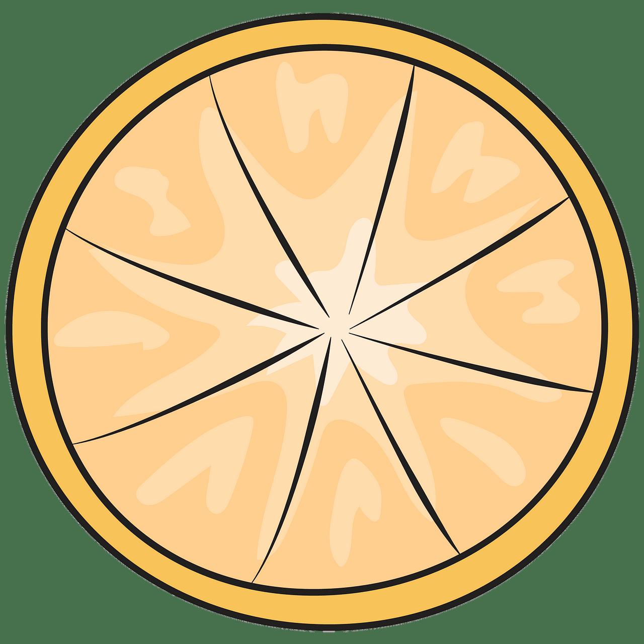 Lemon slice clipart. Free download..