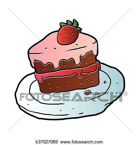 Slice Cake Clip Art.