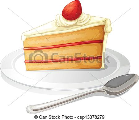 A slice of cake with white icing in a plate.